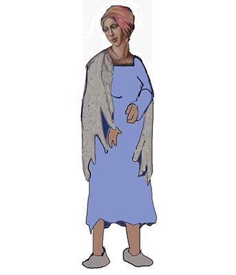 la dame en rose et bleu