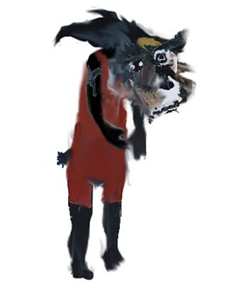 loup triste
