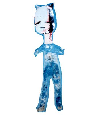 matou triste bleu