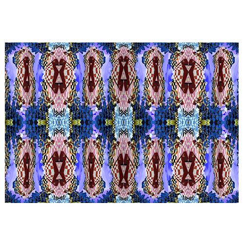 damier bleu montage