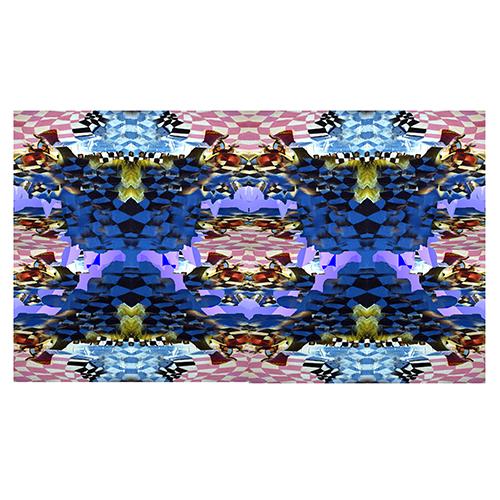 damier bleu