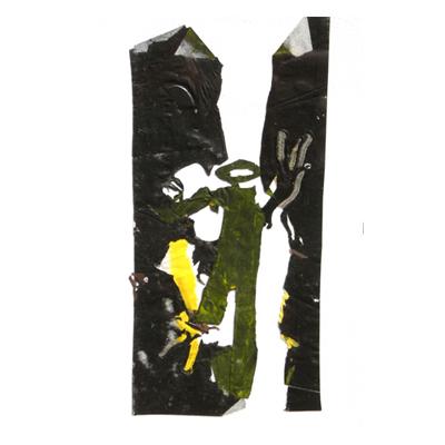 matière acrylique noir jaune