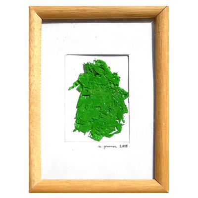 matière acrylique vert