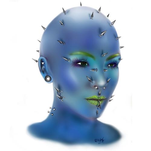 blue piercing